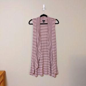 Rue21 Sleeveless Cardigan Sweater